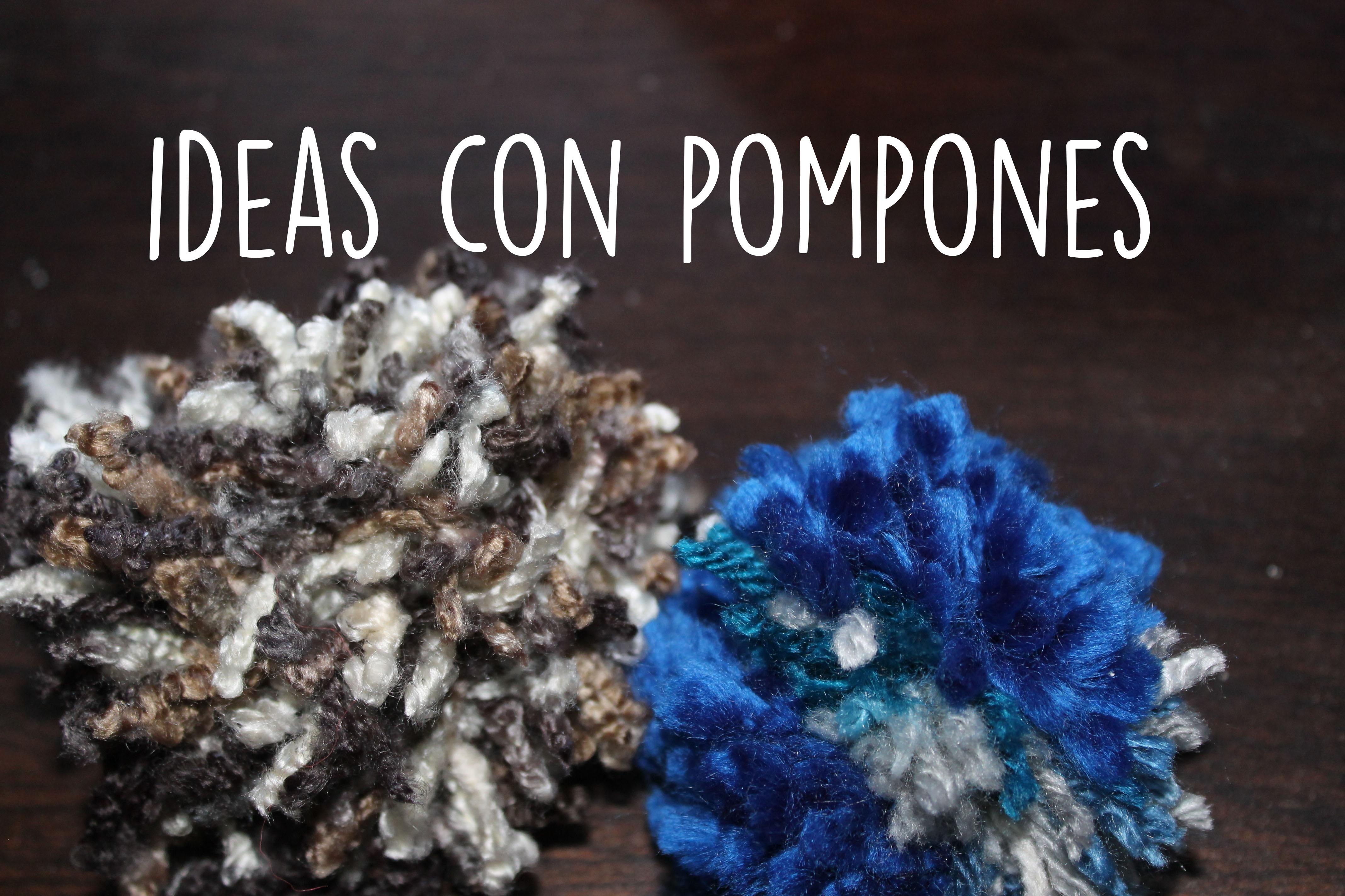 Ideas con pompones de lana para decorar