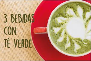 3 bebidas refrescantes con té verde