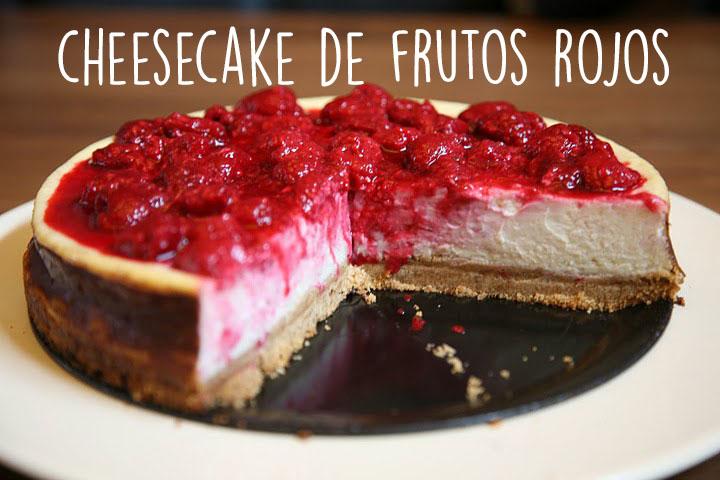 Receta de cheesecake de frutos rojos
