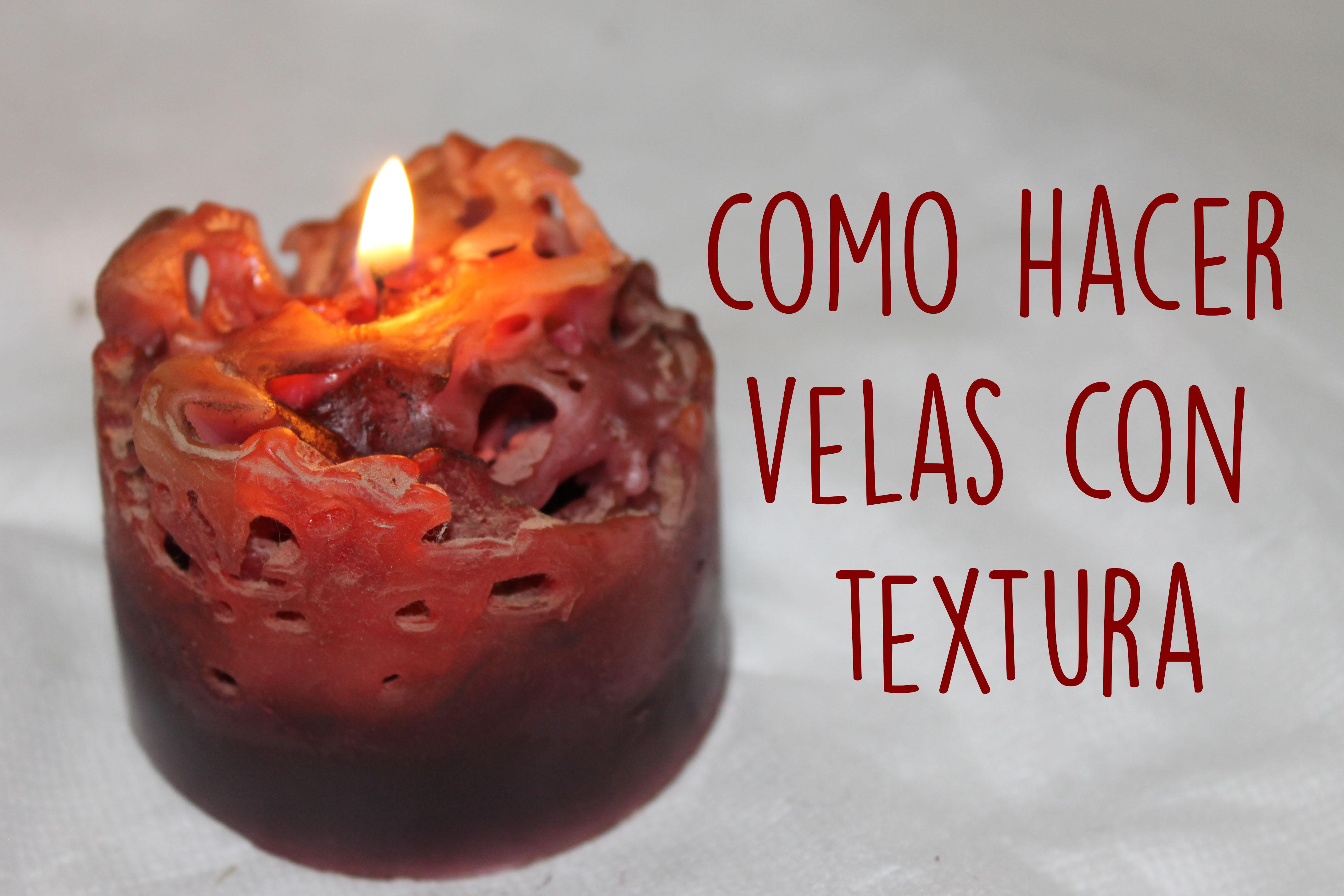 Como hacer una vela texturada con hielo