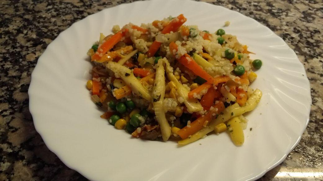 Receta de cuscús con verduras salteadas