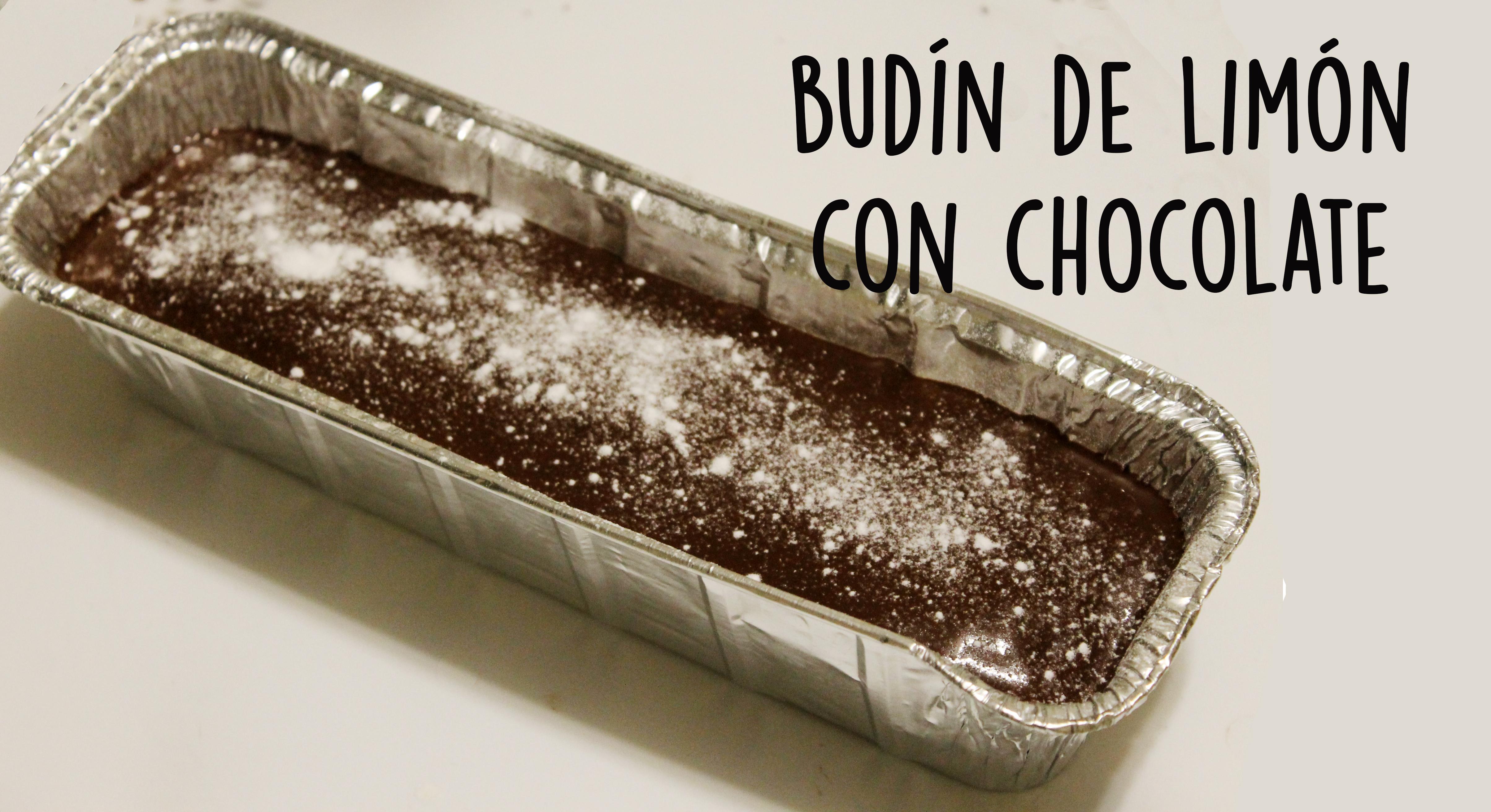 Receta de budines de limón bañados en chocolate
