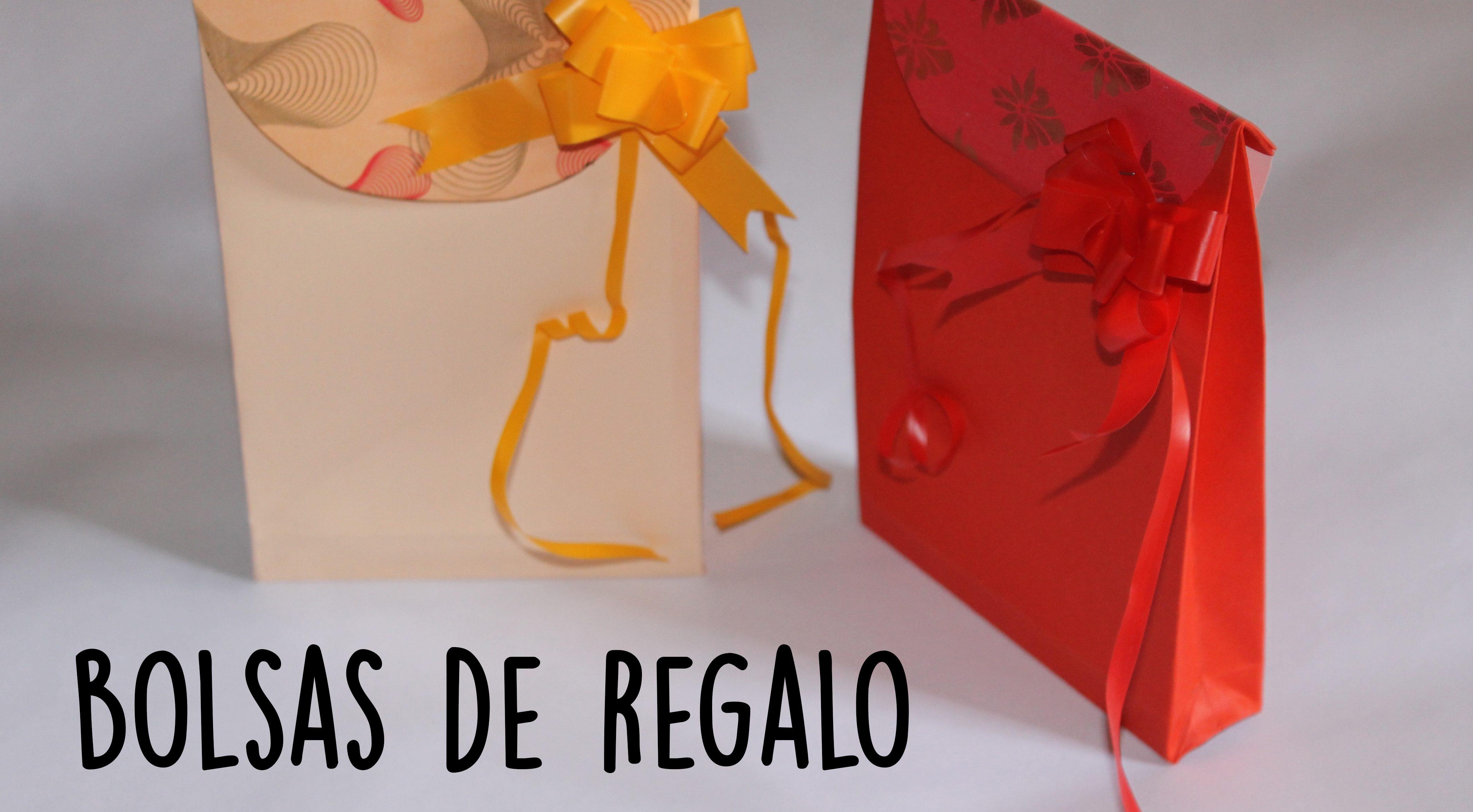Como hacer bolsa de papel para regalo original