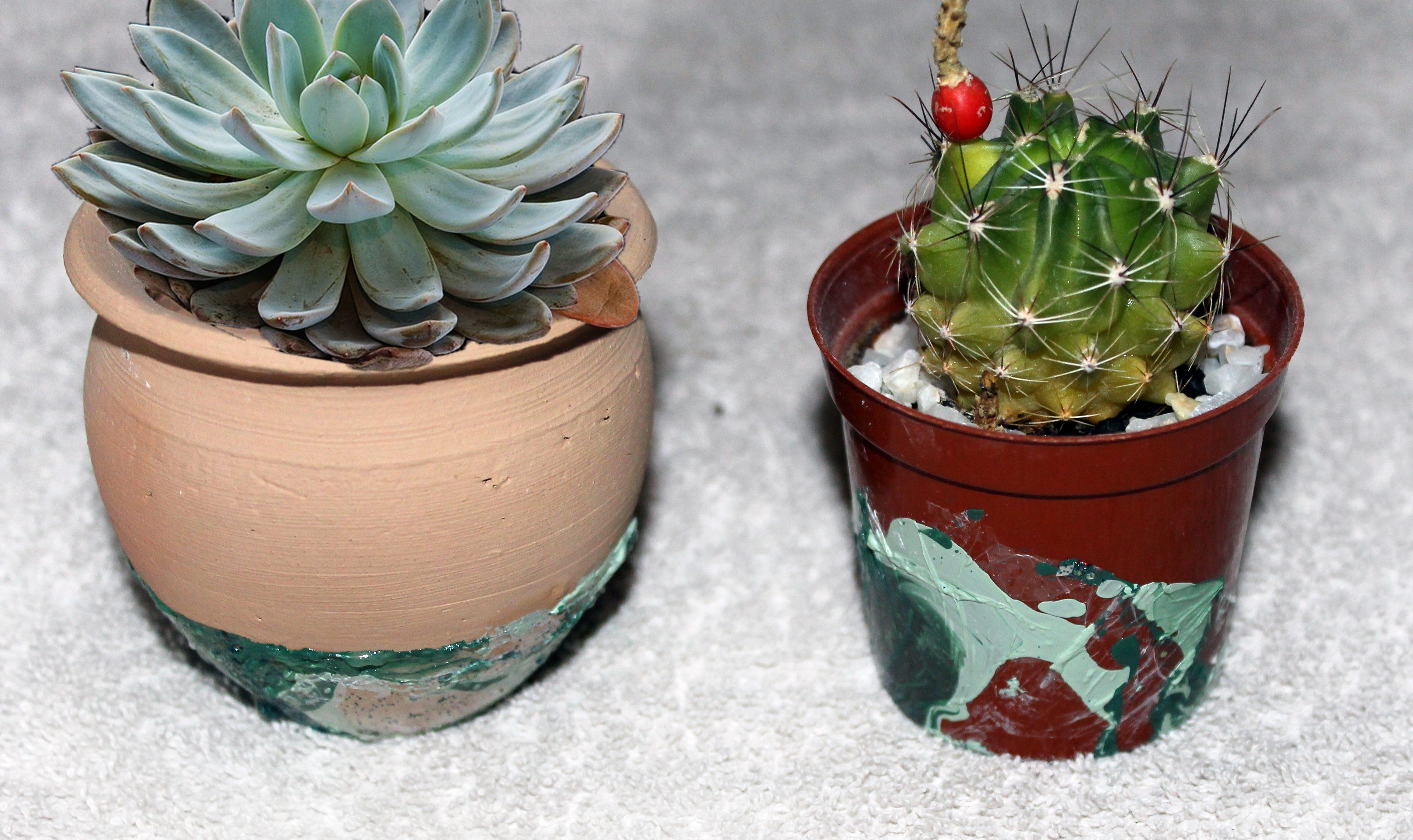 Read more about the article Macetas decoradas con esmalte de uñas paso a paso