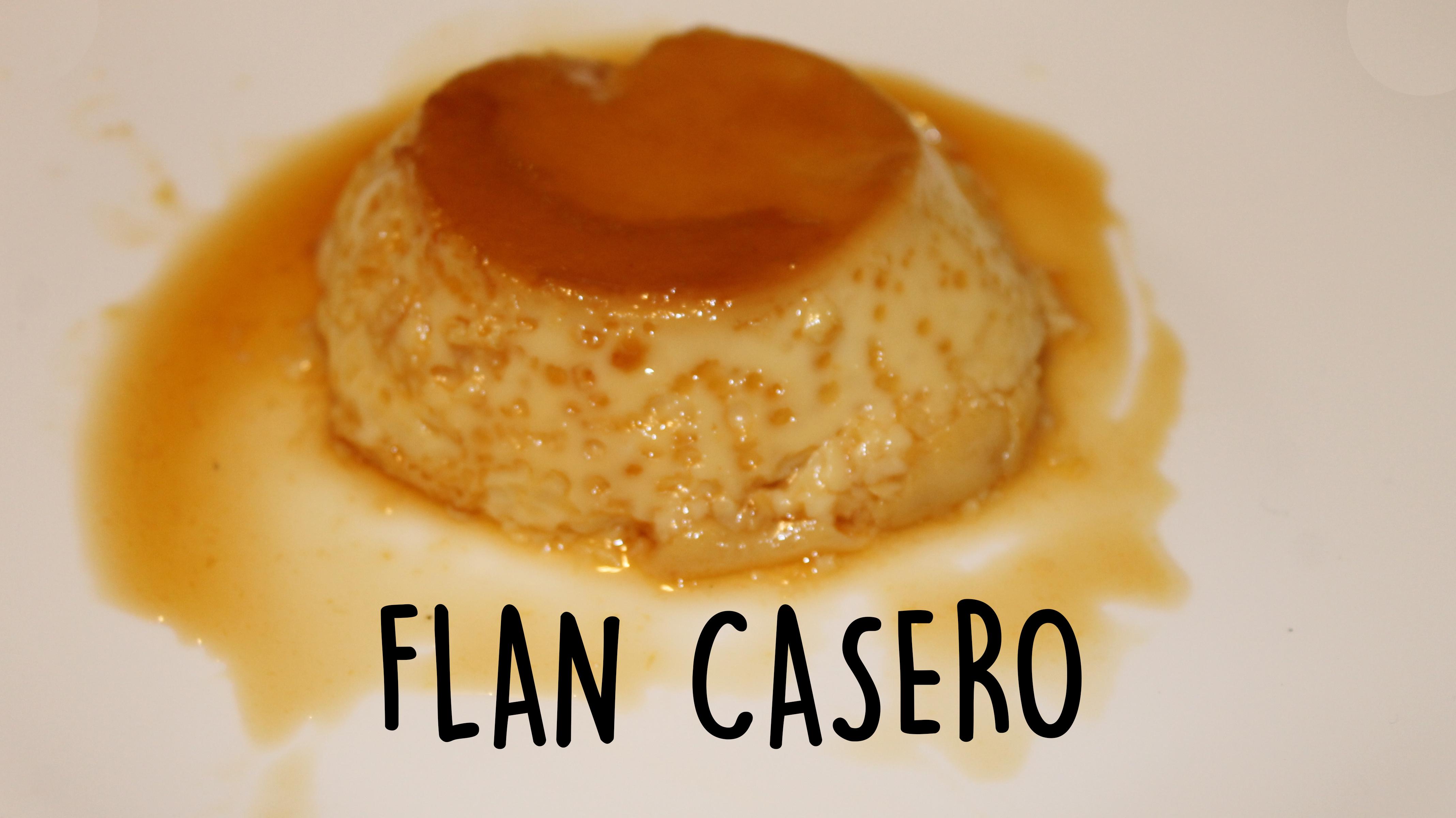 Flan casero con leche condensada receta paso a paso