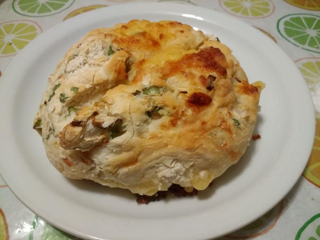You are currently viewing Pan relleno de cebolla y queso receta paso a paso