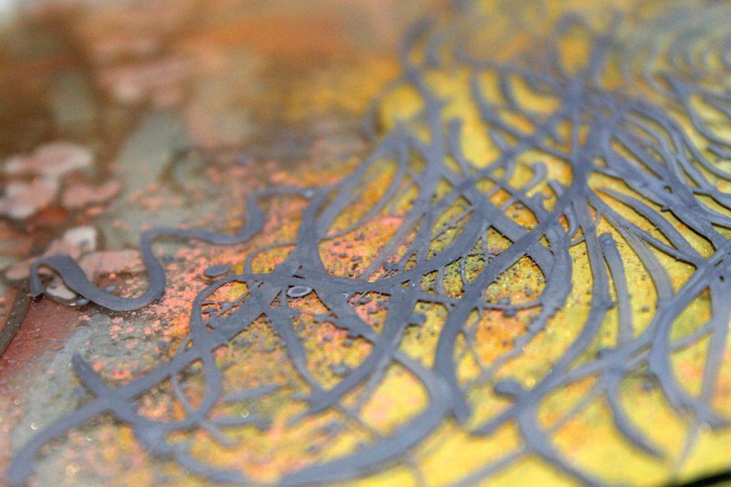 Técnica de esmaltado por capas