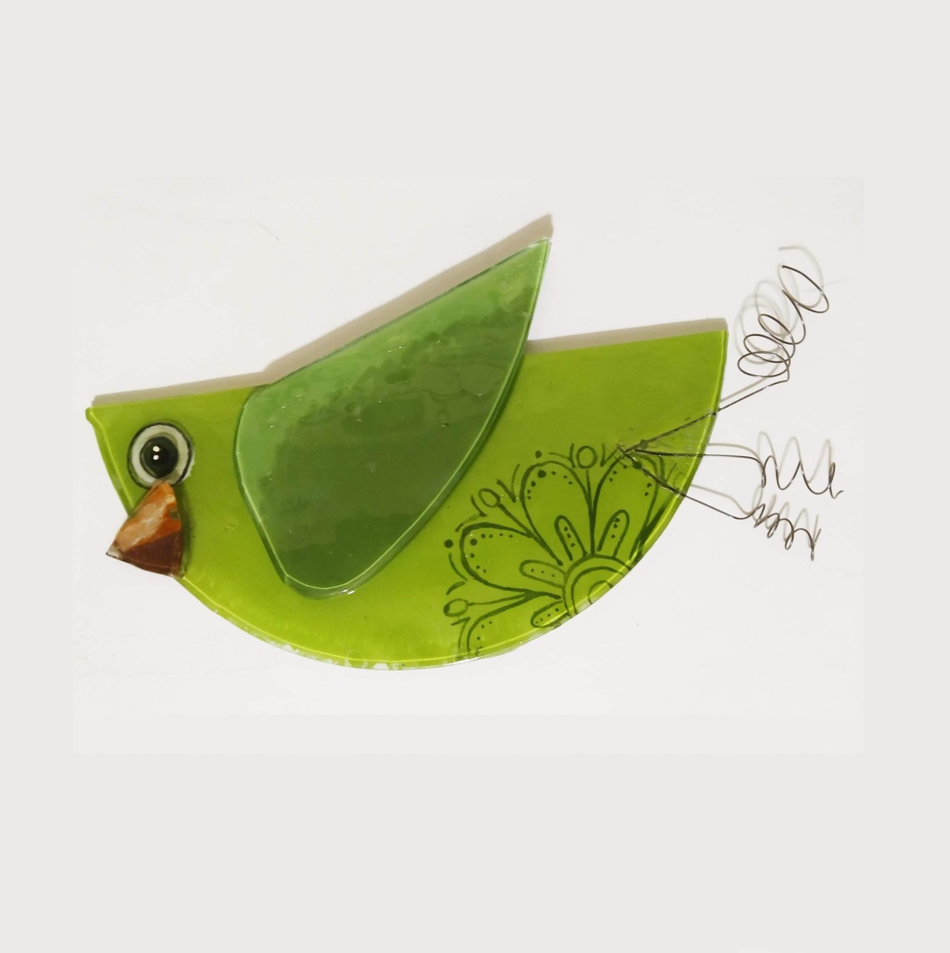 You are currently viewing Pájaro en vitrofusión con mandala para colgar